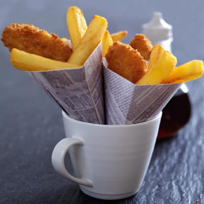 Mini fish and chips by Marlborough Events
