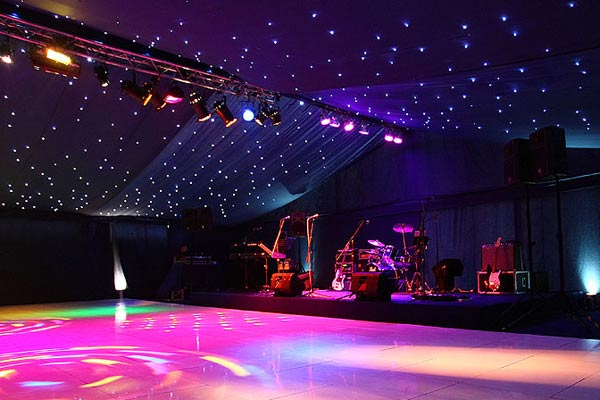 marquee set up nightclub-style
