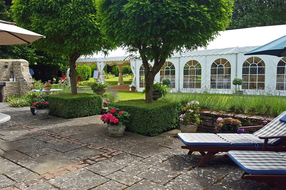 marquee for alfresco summer party by marlborough events