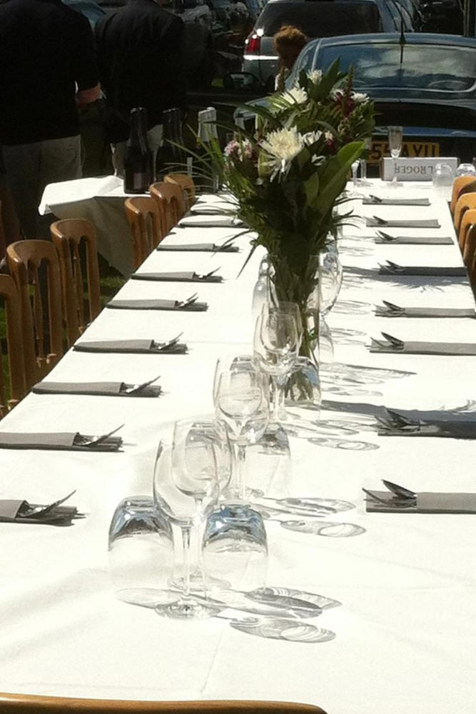 alfresco dining at cartier polo by marlborough events