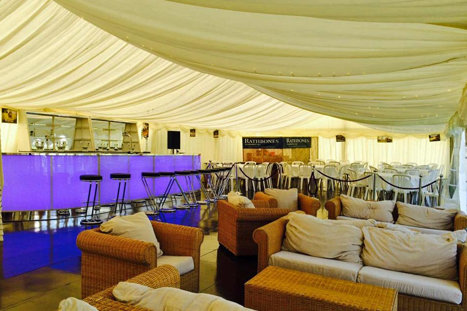 marquee for corporate sporting event by marlborough events